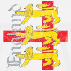 Three Lions for England (antiqued) - Men's Premium T-Shirt