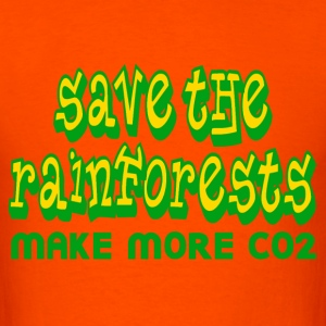 Orange Save the Rainforests CO2 T-Shirts - Men's T-Shirt