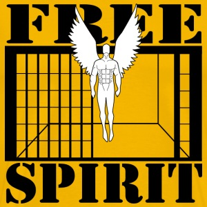 Yellow FREE SPIRIT (white) T-Shirts - Men's Premium T-Shirt