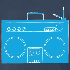 Navy ghetto blaster T-Shirts - Men's Premium T-Shirt