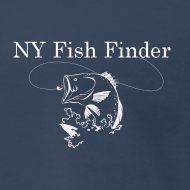 Design ~ NY Fish Finder T-Shirt (Navy)