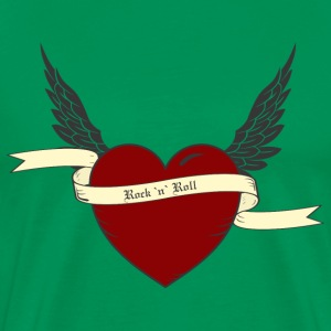 Sage heart with wings T-Shirts - Men's Premium T-Shirt