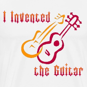 Natural I invented the Guitar T-Shirts - Men's Premium T-Shirt