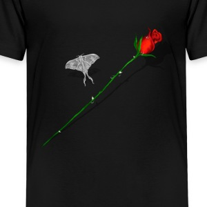 Red Rose and White Butterfly - Toddler Premium T-Shirt