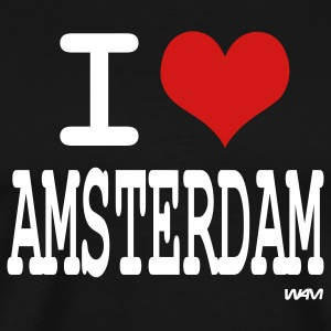 Black i love amsterdam by wam T-Shirts - Men's Premium T-Shirt