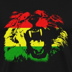 Black Rasta Lion T-Shirts
