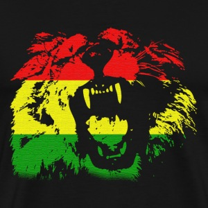 Black Rasta Lion T-Shirts - Men's Premium T-Shirt