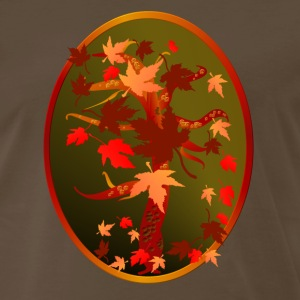Autumn Tree Oval - Men's Premium T-Shirt