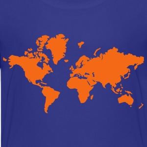 Turquoise World Map Kids' Shirts - Kids' Premium T-Shirt