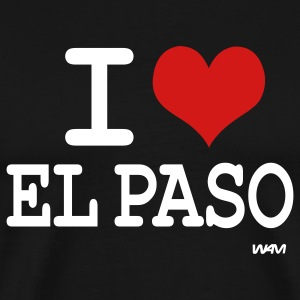 Black i love el paso by wam T-Shirts - Men's Premium T-Shirt