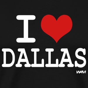 Black i love dallas by wam T-Shirts - Men's Premium T-Shirt
