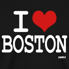 Black i love boston by wam T-Shirts