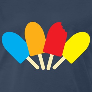 Navy ice pops spread bitten T-Shirts - Men's Premium T-Shirt