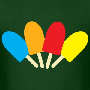 Forest green ice pops spread T-Shirts - Men's T-Shirt