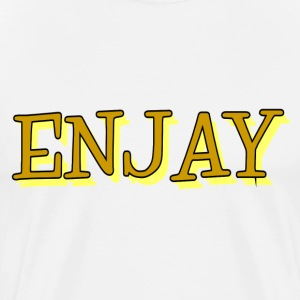 ENJAY T-Shirt-Yellow - Men's Premium T-Shirt
