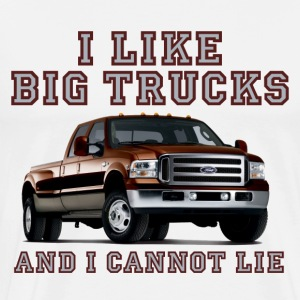 White I Like Big Trucks & I Cannot Lie Chevy T-Shirts - Men's Premium T-Shirt