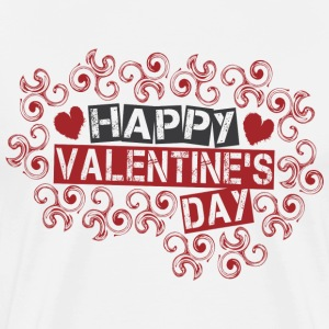 White happy_valentines_day_twirls T-Shirts - Men's Premium T-Shirt