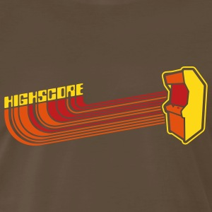 Brown Highscore1 T-Shirts - Men's Premium T-Shirt