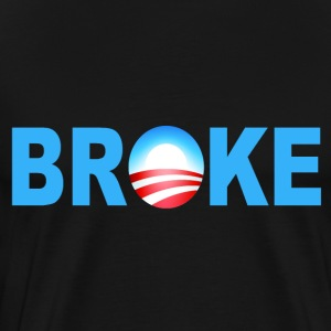 Black Obama Broke T-Shirts - Men's Premium T-Shirt