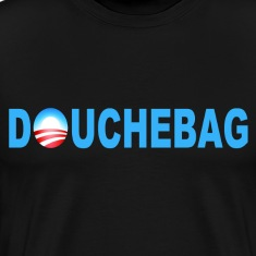 Black Obama Douchebag T-Shirts