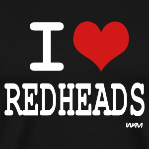 Black i love redheads by wam T-Shirts - Men's Premium T-Shirt