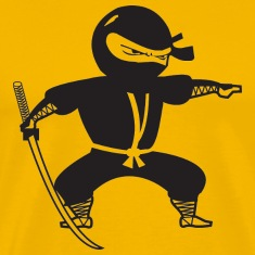 Yellow Black Ninja T-Shirts