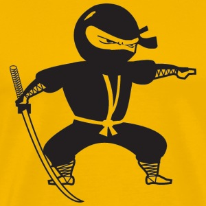 Yellow Black Ninja T-Shirts - Men's Premium T-Shirt