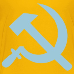 Yellow Hammer and sickle Kids' Shirts - Kids' Premium T-Shirt