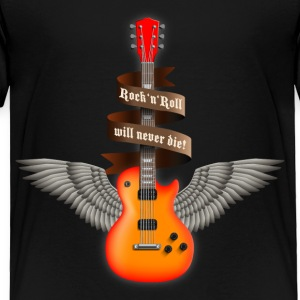 Black rock_guitar_a_red Toddler Shirts - Toddler Premium T-Shirt