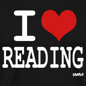 Black i love reading by wam T-Shirts - Men's Premium T-Shirt