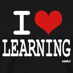 Black i love learning by wam T-Shirts
