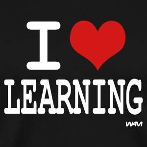 Black i love learning by wam T-Shirts - Men's Premium T-Shirt