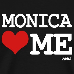 Black monica loves me by wam T-Shirts - Men's Premium T-Shirt