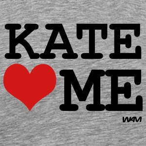 Heather grey kate loves me by wam T-Shirts - Men's Premium T-Shirt