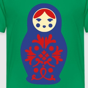Kelly green russian doll Kids' Shirts - Kids' Premium T-Shirt