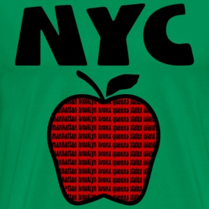 Forest green NYC With Big Apple And 5 Boroughs--DIGITAL DIRECT PRINT ONLY T-Shirts - Men's Premium T-Shirt
