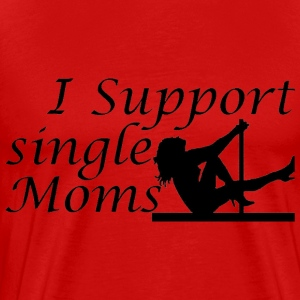 Red Single Moms T-Shirts - Men's Premium T-Shirt