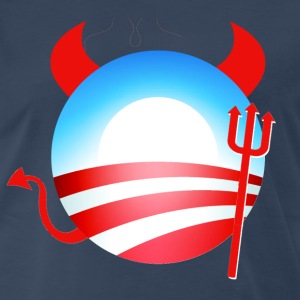 Navy Obama Devil T-Shirts - Men's Premium T-Shirt