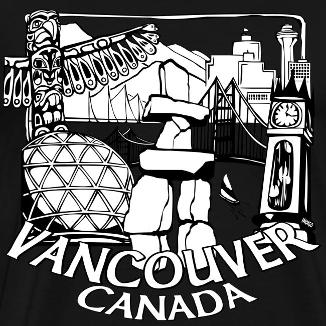Vancouver T-shirt Men's Plus Size Vancouver Canada Shirt