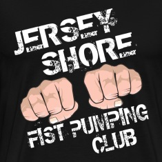 Black Jersey Shore Fist Pumping Club T-Shirts