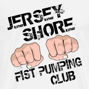 Natural Jersey Shore Fist Pumping Club T-Shirts - Men's Premium T-Shirt