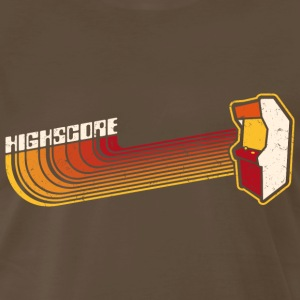 Brown Highscore1 (Vintage Print) T-Shirts - Men's Premium T-Shirt
