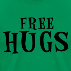 Kelly green free hugs T-Shirts