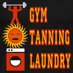 Black Jersey Shore Gym Tanning Laundry T-Shirts