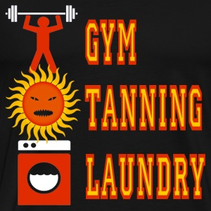 Black Jersey Shore Gym Tanning Laundry T-Shirts - Men's Premium T-Shirt