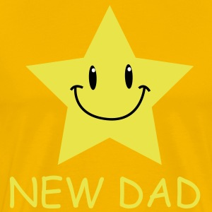 Gold star with face T-Shirts - Men's Premium T-Shirt