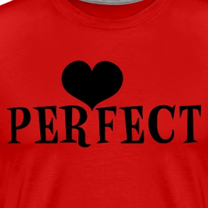 Red perfect with love heart T-Shirts - Men's Premium T-Shirt