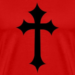 Red fancy gothic cross  T-Shirts - Men's Premium T-Shirt