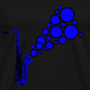 navy sax tune - Men's Premium T-Shirt