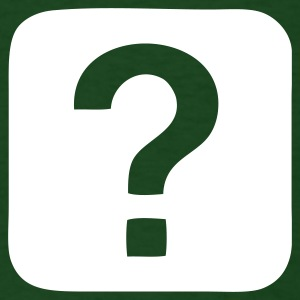 Forest green Question Mark - Question T-Shirts - Men's T-Shirt